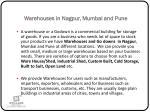 warehouses in nagpur mumbai and pune