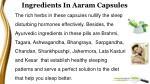 ingredients in aaram capsules