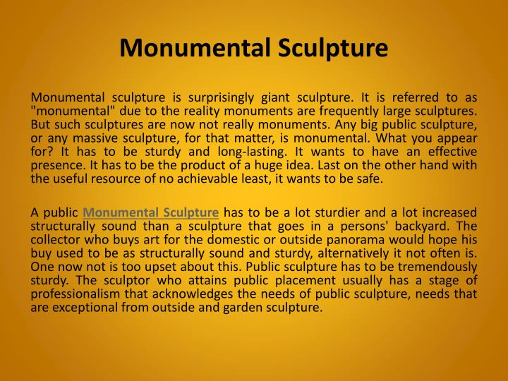 monumental sculpture n.