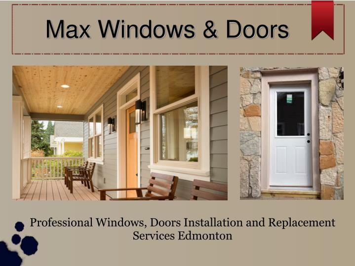 max windows doors n.