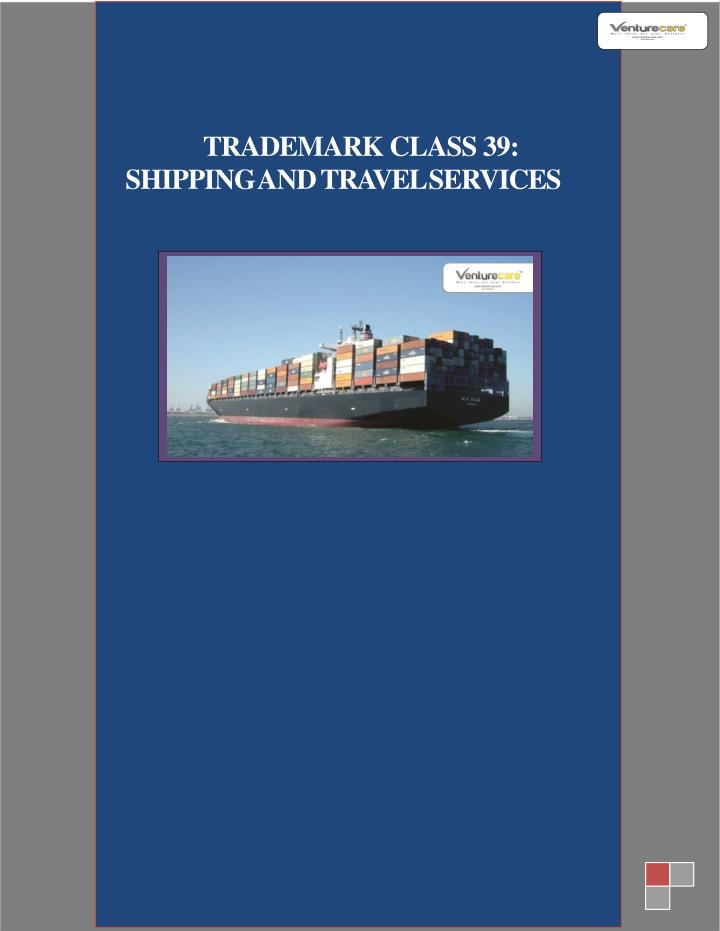 trademark class 39 shipping and travel services n.