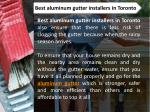 best aluminum gutter installers in toronto 1