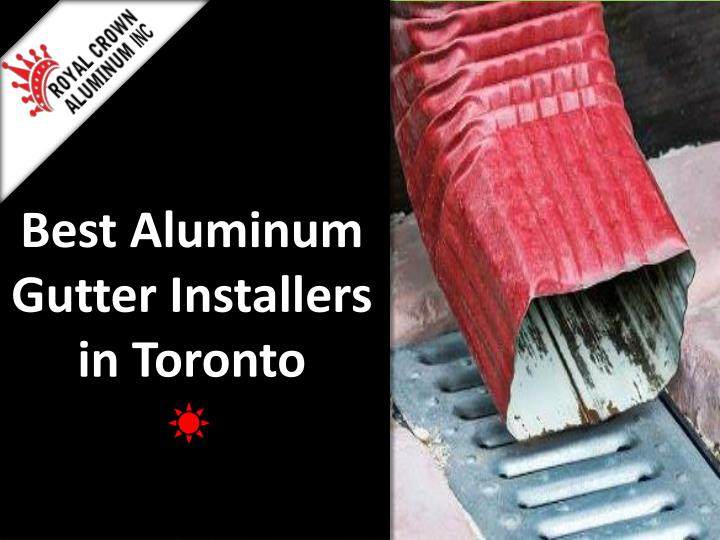 best aluminum gutter installers in toronto n.