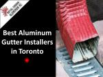best aluminum gutter installers in toronto