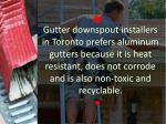 gutter downspout installers in toronto prefers