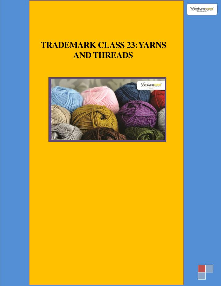 trademark class 23 yarns and threads n.