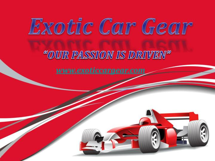 exotic car gear n.