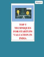 top 5 techniques for startups valuation in india