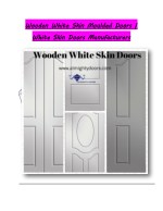 wooden white skin moulded doors white skin doors