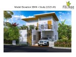 model elevation 3bhk study 1525 sft