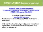 hrm 326 tutor successful learning 1