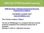 hrm 326 tutor successful learning 13