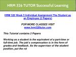 hrm 326 tutor successful learning 2