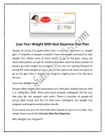lose your weight with best bayonne diet plan