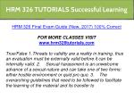 hrm 326 tutorials successful learning 31