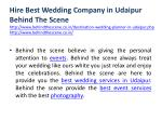 hire best wedding company in udaipur behind 3