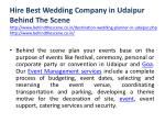 hire best wedding company in udaipur behind 5