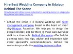 hire best wedding company in udaipur behind
