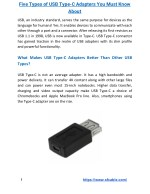 five types of usb type c adapters you must know