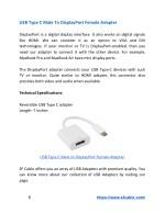 usb type c male to displayport female adapter