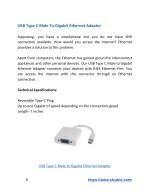 usb type c male to gigabit ethernet adapter