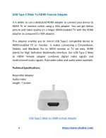 usb type c male to hdmi female adapter