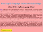 best english language institute in uttam nagar 1