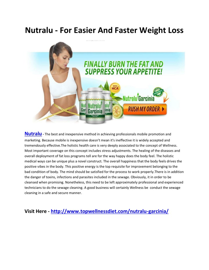 nutralu for easier and faster weight loss n.