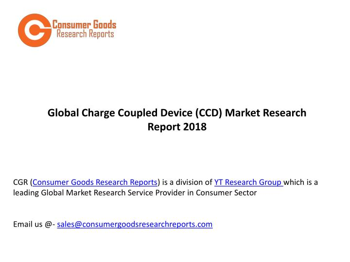 global charge coupled device ccd market research n.