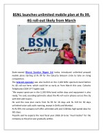 bsnl launches unlimited mobile plan