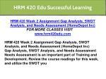 hrm 420 edu successful learning 40