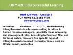 hrm 420 edu successful learning 43
