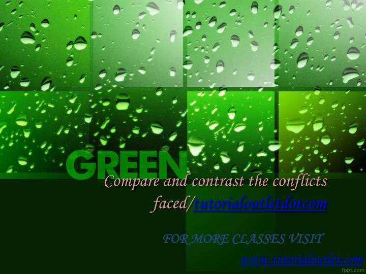 compare and contrast the conflicts faced tutorialoutletdotcom n.