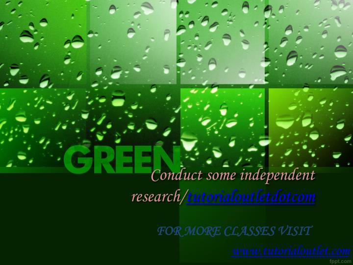 conduct some independent research tutorialoutletdotcom n.