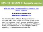 hrm 420 homework successful learning 2