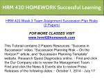 hrm 420 homework successful learning 25