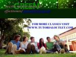 describe the five criteria for effectiveness tutorialoutletdotcom 2