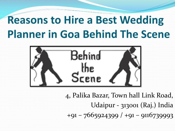 reasons to hire a best wedding planner n.