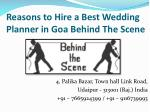 reasons to hire a best wedding planner