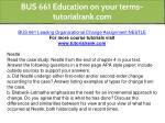 bus 661 education on your terms tutorialrank com 12