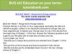 bus 661 education on your terms tutorialrank com 21