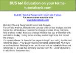 bus 661 education on your terms tutorialrank com 22