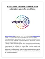 wipro unveils affordable integrated home