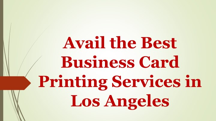 avail the best business card printing services n.