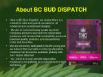 about bc bud dispatch
