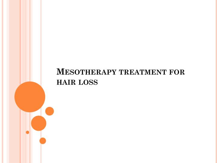 mesotherapy treatment for hair loss n.