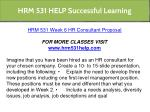 hrm 531 help successful learning 22