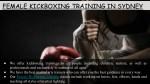 female kickboxing training in sydney