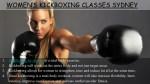 women s kickboxing classes sydney