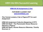 hrm 546 edu successful learning